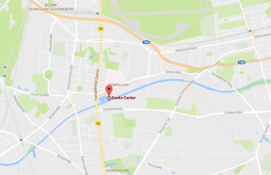 Kartenansicht Dockx Berlin